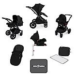 Ickle Bubba Stomp V3 AIO + Isofix Base Black On Black