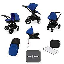 image of Ickle Bubba Stomp V3 AIO + Isofix Base Blue On Black