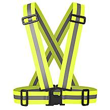 image of BTR High Visibility Reflective Vest, Bib, Sash, One Size Fits All