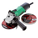 image of Hitachi G12ss 115mm 4-1/2in Angle Grinder 240v With 10 Abracs Cutting Discs