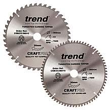 image of Trend 260mm Sawblade Twin Pack 42T and 72T