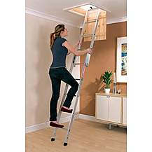 image of Youngman 302340 Spacemaker 2-Section Loft Ladder