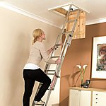 image of Youngman 313340 Easiway Aluminium 3 section Loft Ladder