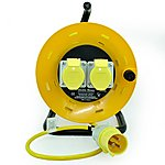 image of SMJ CR2516 25 Metre 16 Amp 2 Socket Cable Reel 110V