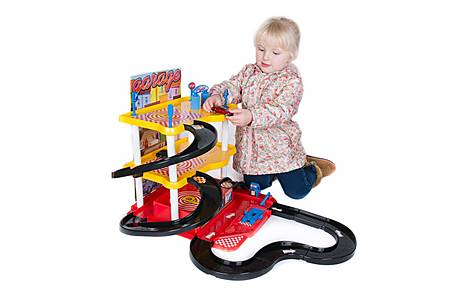 image of 3 Level Car Garage Playset