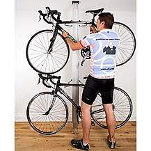 image of Bike (gear Up) Floor-to-ceiling Aluminum Bike Rack- Silver