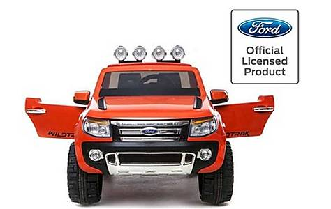 image of Licensed Ford Ranger -12v Kids Electric Ride On Jeep - Orange