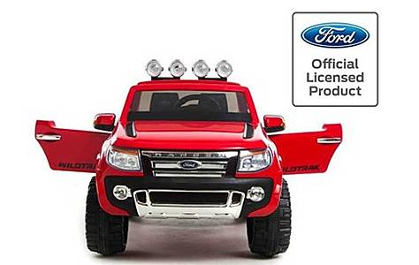 image of Licensed Ford Ranger -12v Kids Electric Ride On Jeep - Red
