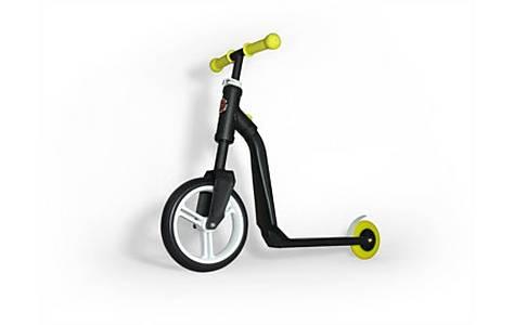 image of Highway Freak 2 In 1 Scooter & Balance Bike - Black & Yellow
