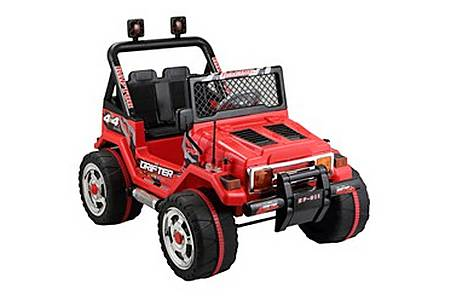image of Battery Powered Two Seater 4x4 12v Ride On Jeep -  Red