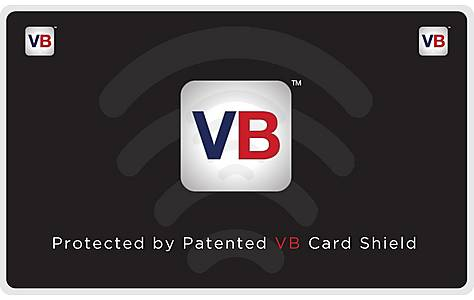 image of Vb Card Shield Patented Contactless Bank Card Protector.