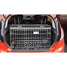 image of Pet World UK Ford Car Dog Cage Crate For Fiesta, Focus And Fusion For Pet Safe Travelling