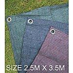 image of Summit Weaveatex Blue Caravan Awning Carpet ,groundsheet  2.5m X 3.5m