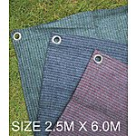 image of Summit Weaveatex Blue Caravan Awning Carpet ,groundsheet  2.5m X 6.0m