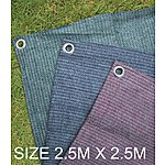image of Summit Weaveatex Plum Caravan Awning Carpet ,groundsheet  2.5m X 2.5m