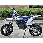 image of Rage Raptor Db500 Dirt Bike - 36v Electric Kids Motorbike - Blue