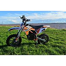 image of Rage Raptor Db500 Dirt Bike - 36v Electric Kids Motorbike - Orange