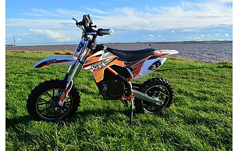 image of Rage Raptor Db500 Dirt Bike - 36v Electric Kids Motorbike - Orange