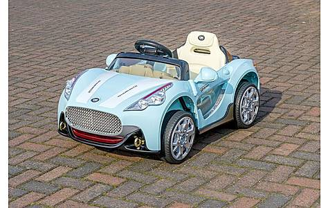 image of Blue Maserati Style - 12v Kids Electric Ride On Car With Parental Remote Control