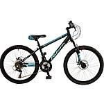 image of Falcon Nitro  Boys 24in Alloy Ht Front Suspension Dual Disc Mountain Bike New For 2016 (not Available Yet)