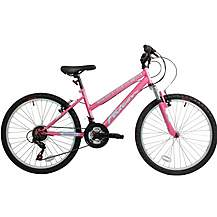 image of Falcon Venus Girls 24in Ht Mountain Bike With Front Suspension