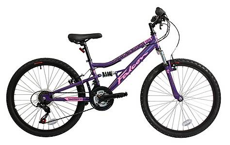 image of Falcon Siren Girls 24in Full Suspension Mountain Bike