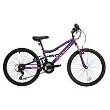 image of Falcon Siren Girls 24in Full Suspension Mountain Bike