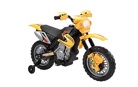 image of Mini Motocross 6v Kids Electric Motorbike - Yellow