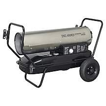 image of Sealey AB1008SS Space Warmer Paraffin, Kerosene & Diesel Heater 100,000btu/hr With Wheels Stainless Steel