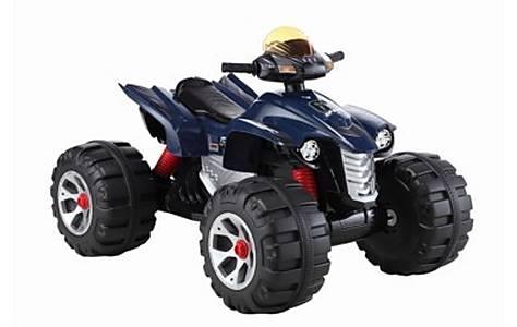 image of Big Ride On Electric Raptor Quad Bike 12v - Blue