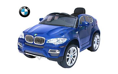 image of Bmw X6 - Licensed 12v Electric Ride On Jeep - Blue
