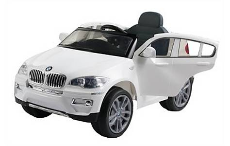 image of Bmw X6 - Licensed 12v Kids Electric Ride On Jeep - White