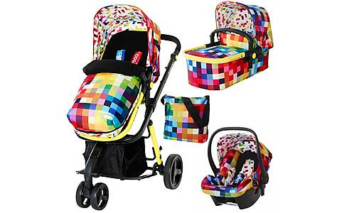 image of Cosatto Giggle 3-in-1 Travel System - Free Car Seat In Pixelate