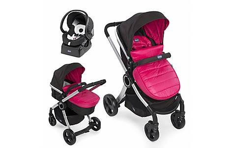 image of Chicco Urban Stroller Travel System In Winter Sunset
