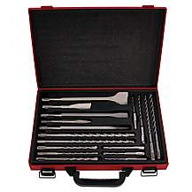 image of Lumberjack Sdst17 17 Piece Sds Drill And Chisel Set In Case