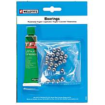image of Weldtite 5/32 Inch Ball Bearings & Grease. 54 Balls. For Some Headsets And Some Pedals