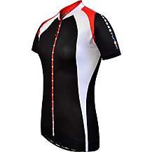 image of Funkier J-780 Ladies Elite Short Sleeve Cycling Jersey In Black/white