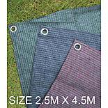 Summit Weaveatex Blue Caravan Awning Carpet ,groundsheet  2.5m X 4.5m