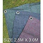 image of Summit Weaveatex Plum Caravan Awning Carpet ,groundsheet  2.5m X 3m