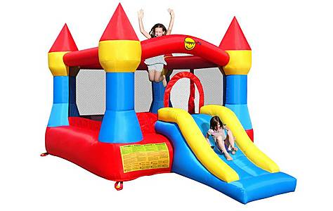 image of Large Turret Bouncy Castle With Slide 9017
