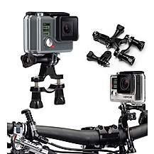 image of Navitech - Handlebar Bike & Motorcycle Mount For Action Cameras Including Gopro Cameras