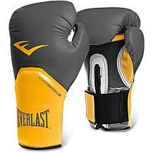 image of Everlast Pro Style Elite Training Boxing Gloves - Grey/orange 16oz