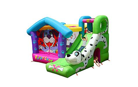 image of Puppy Land Bouncy Castle With Slide 9109