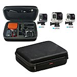 image of Navitech - Black Eva Hard Carry Case For Gopro Actions Cameras