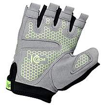 image of Icglove Indicator Cycling Bicycle Silicone Gel Half Finger Fingerless Gloves Bike Sports - Size Medium