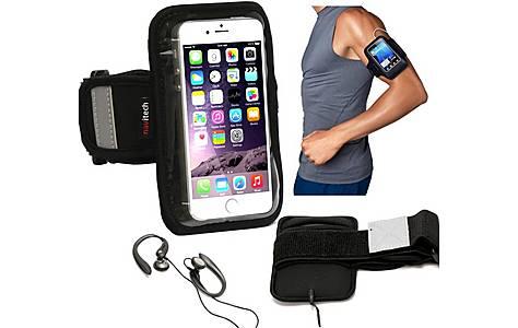 image of Navitech - 5.5 - 6 Inch Neoprene Black Running  Armband For Smartphones And Mobile Phones