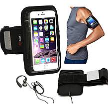 image of Navitech - 5.5 - 6 Inch Neoprene Black Running  Armband For Smartphones And Mobile Phones