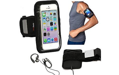image of Navitech - 4 - 4.7 Inch  Neoprene Black Running Armband For Smartphones And Mobile Phones
