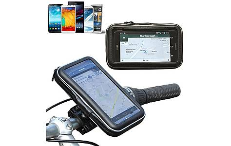image of Navitech - Bike & Motorbike Waterproof Mount / Case For 5 Inch Smartphone And Devices