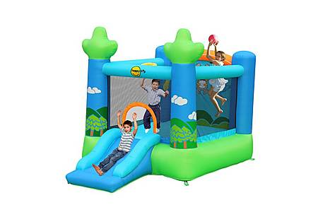 image of Koalas 7ft Inflatable Bouncy Castle With Slide And Basketball Hoop